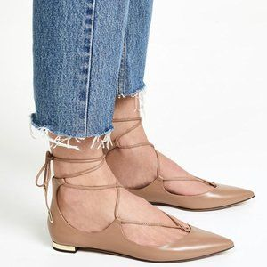 Aquazzura // Christy Lace Up Leather Flats